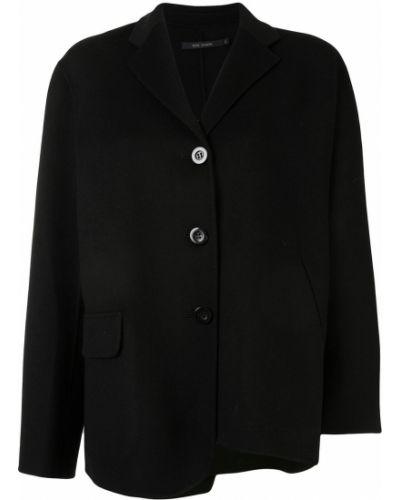 Шерстяной черный удлиненный пиджак на пуговицах Sofie D'hoore