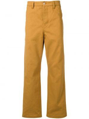 Bawełna spodni brązowy dopasowywanie przycięte spodnie Acne Studios