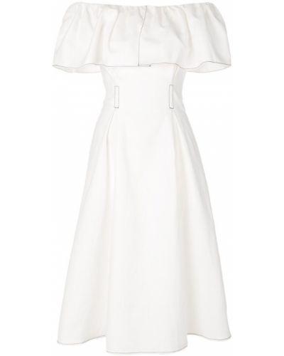Платье с открытыми плечами на шнуровке Rejina Pyo