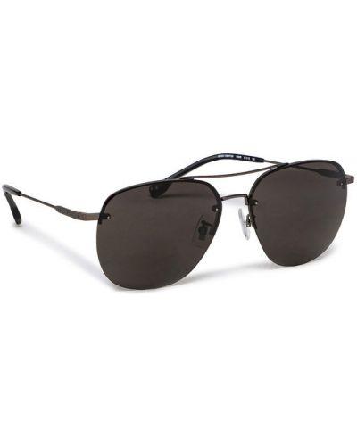 Czarne okulary Boss