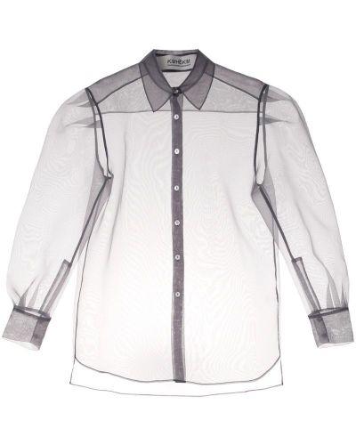 Классическая рубашка прозрачная серая Kimhekim