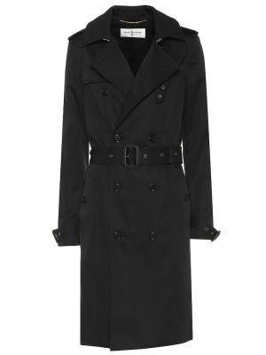 Черное пальто Saint Laurent