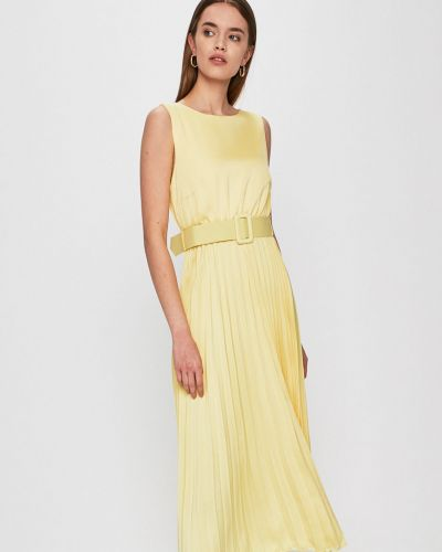 Платье миди однотонное расклешенное Answear