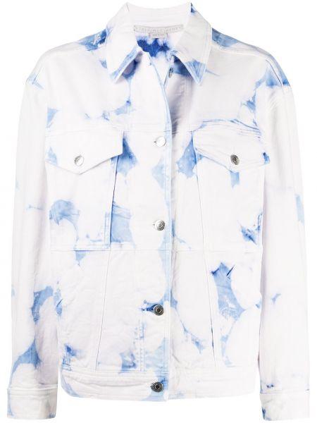 Хлопковая белая джинсовая куртка на пуговицах Stella Mccartney
