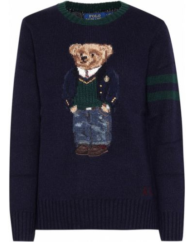 Свитер с медведем синий Polo Ralph Lauren