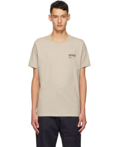 Ватная хлопковая с рукавами рубашка с короткими рукавами с воротником Affix