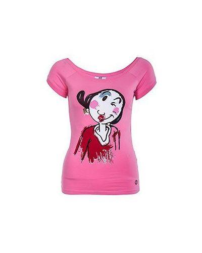 Розовая хлопковая футболка Ice Iceberg