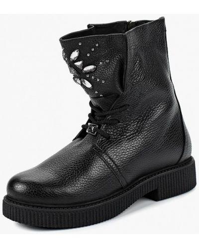 Ботинки на каблуке осенние кожаные Grand Style