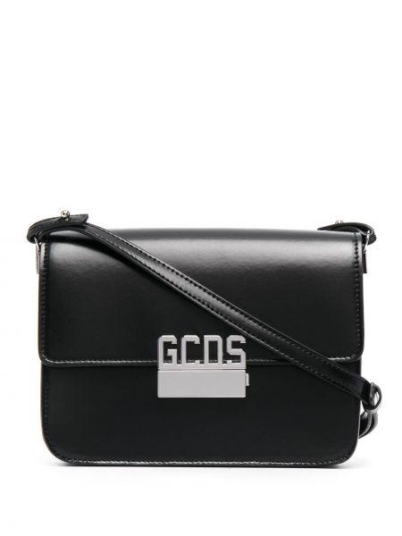 Черная кожаная косметичка с карманами Gcds