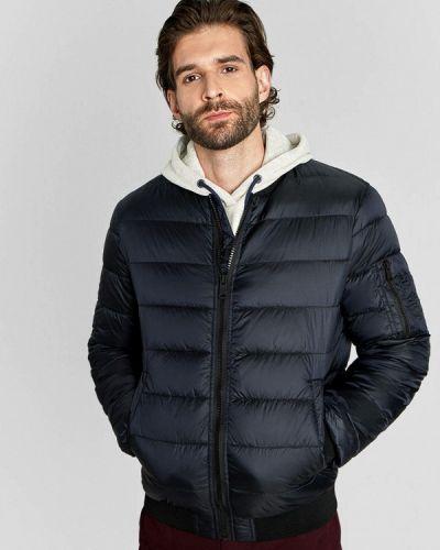 Теплая синяя утепленная куртка O'stin