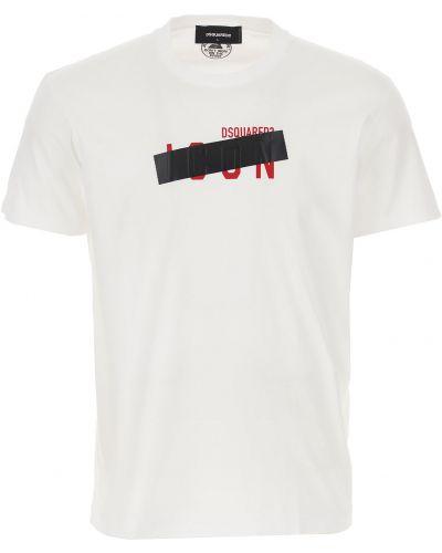 Biała włoska t-shirt Dsquared