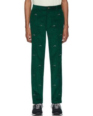 Prosto spodnie z haftem pomarańczowy Aime Leon Dore