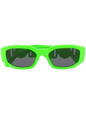Zielona złota oprawka do okularów Versace Eyewear