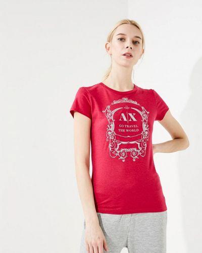 Розовая футболка Armani Exchange