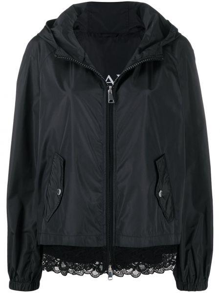 Черная куртка с капюшоном на молнии Ermanno Ermanno