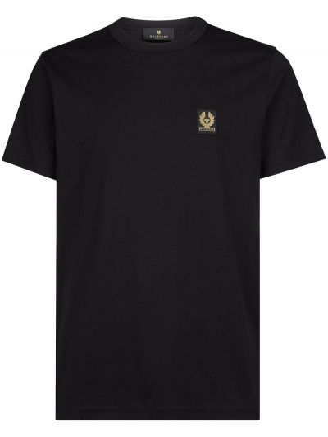 T-shirt bawełniana - czarna Belstaff
