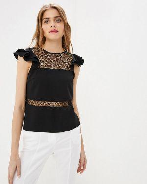 Блузка с коротким рукавом весенний черная Love Republic