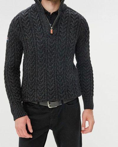 Черный свитер турецкий Superdry