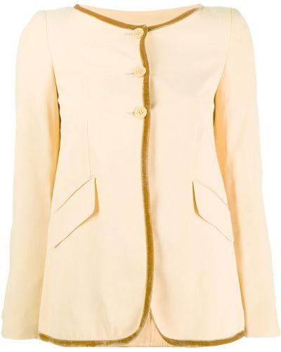 Коричневая длинная куртка с манжетами Romeo Gigli Pre-owned