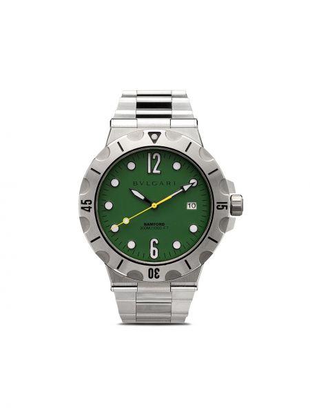 Szary złoty zegarek mechaniczny klamry Bamford Watch Department