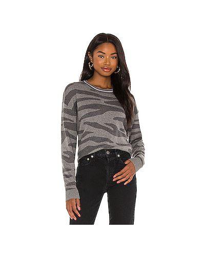 Шелковый серый свитер с воротником Splendid