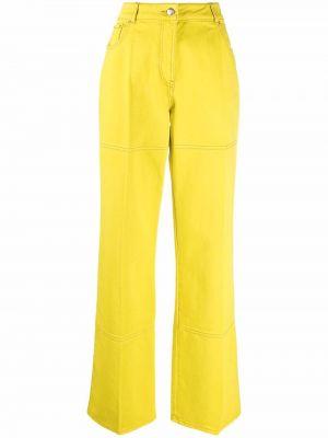 Желтые прямые джинсы на пуговицах Nina Ricci
