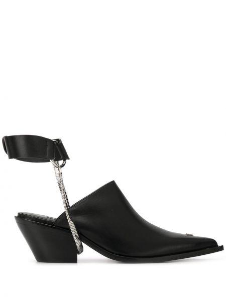 Мюли черный на каблуке Misbhv