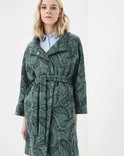 Пальто демисезонное зеленое Grafinia
