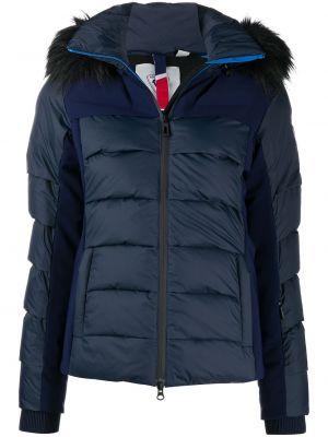 Синяя длинная куртка с капюшоном из искусственного меха Rossignol
