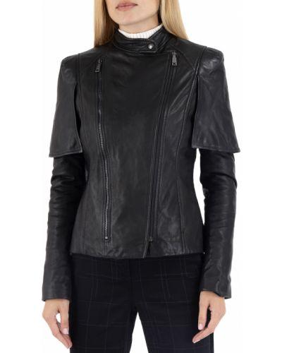 Яркая кожаная куртка - черная Richmond