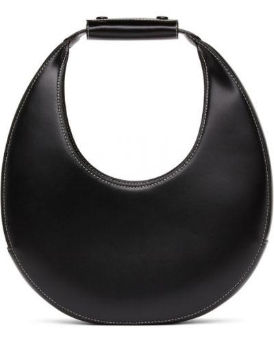 Черная кожаная косметичка с подкладкой Staud