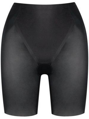 Нейлоновые с завышенной талией черные шорты Spanx