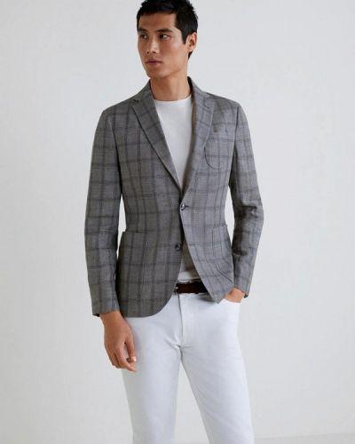 Серый пиджак Mango Man