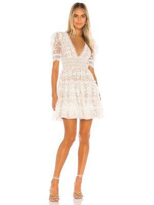 Кружевное платье мини - белое Bronx And Banco