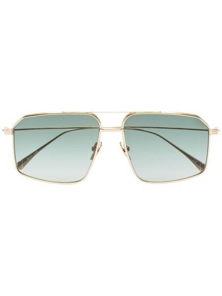 Прямые муслиновые желтые классические солнцезащитные очки Kaleos