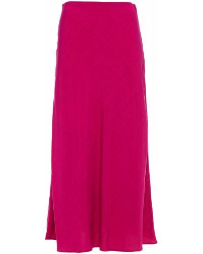 Текстильная розовая юбка миди на крючках Mara Hoffman