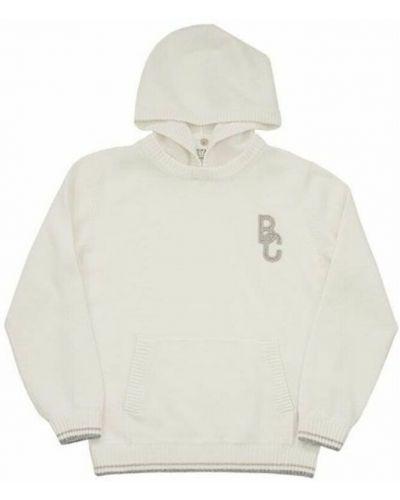 Biały sweter z kapturem Brunello Cucinelli