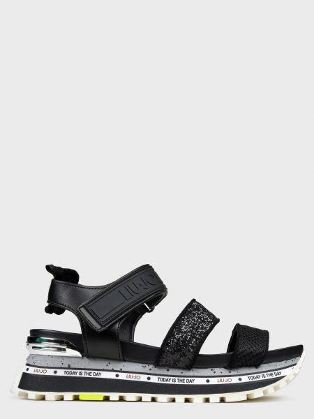 Черные кожаные сандалии на платформе Liu Jo