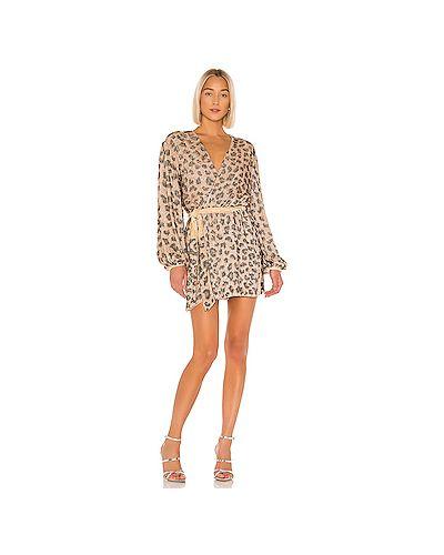Платье с поясом с запахом винтажная Retrofete
