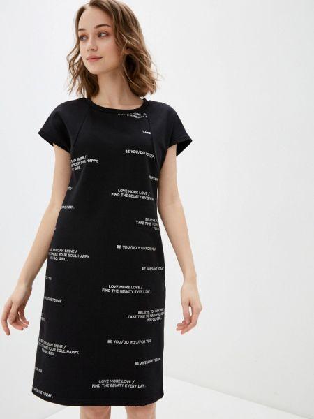 Платье платье-толстовка черное Savage