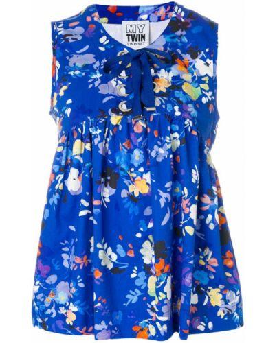 Блузка без рукавов с цветочным принтом с бантом Twin-set