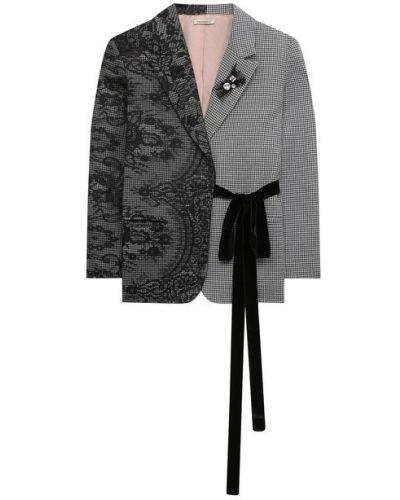 Однобортный удлиненный пиджак с подкладкой из вискозы Designers Cat