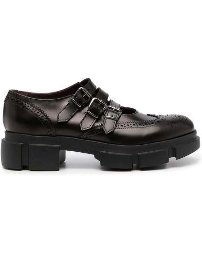 Черные туфли с круглым носом Antonio Marras