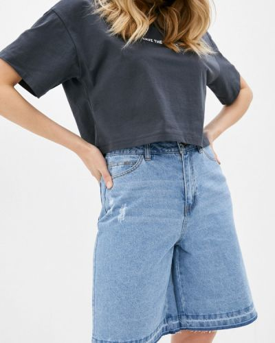 Джинсовые шорты - голубые Sela
