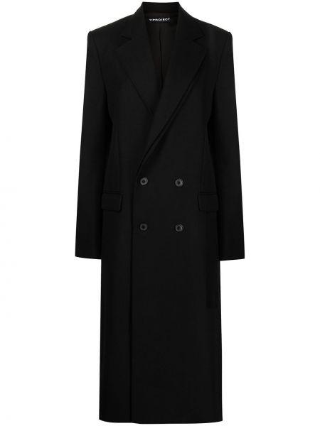 Черное пальто двубортное Y/project