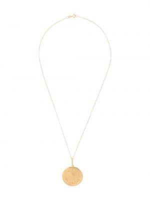 Wisiorka ze złota złoto pozłacany z ozdobnym wykończeniem Hermina Athens