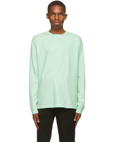 Zielony bawełna z rękawami koszula John Elliott