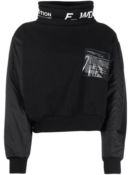 Czarna bluza bawełniana z printem F_wd