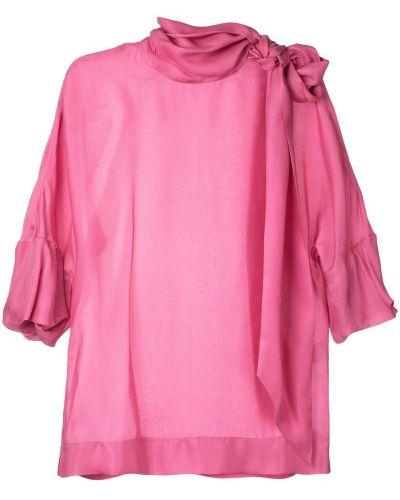 Блузка шелковая короткая Paule Ka