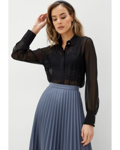 Черная блузка с длинными рукавами Blugirl Folies